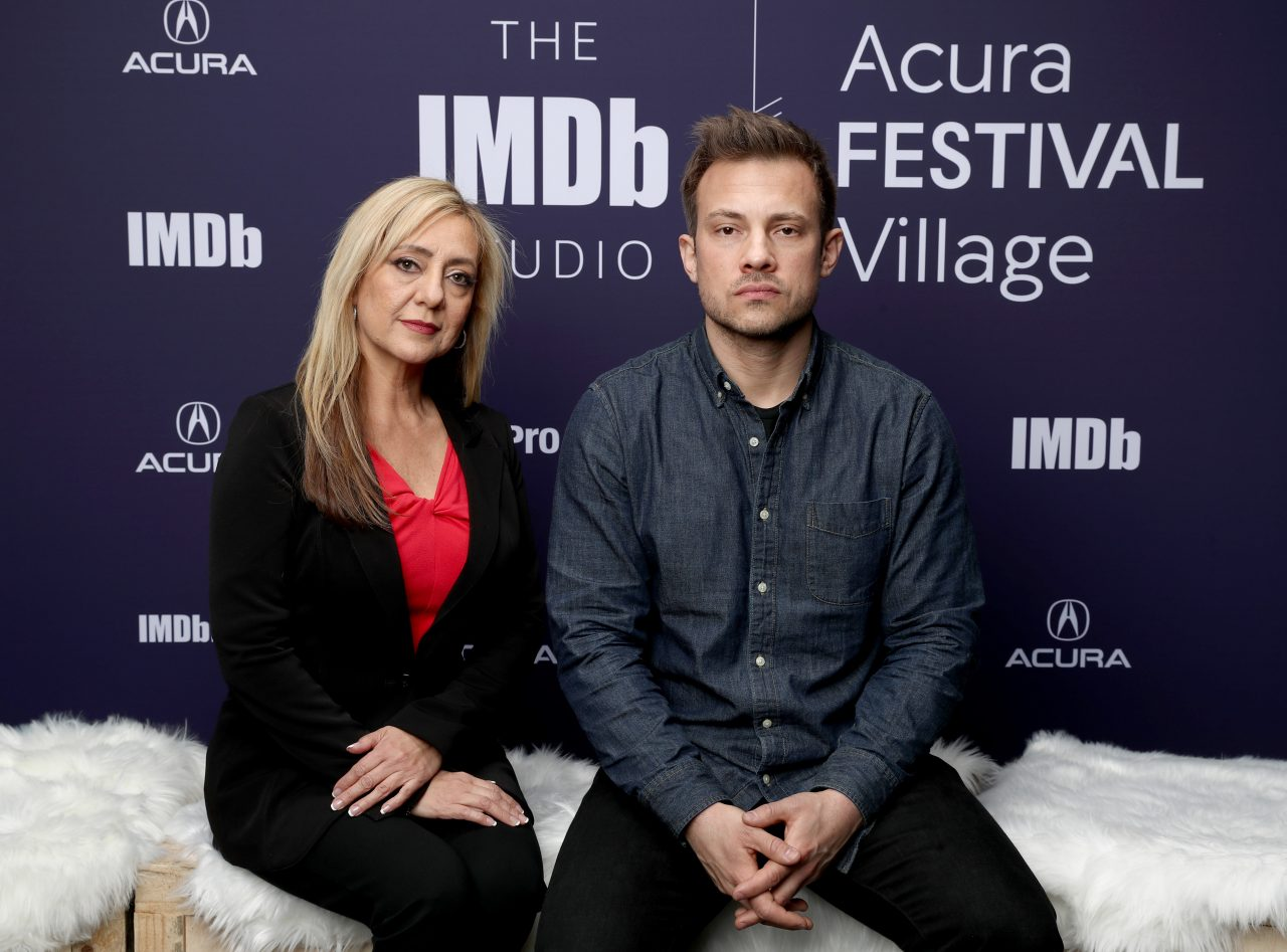 Lorena Bobbitt and Joshua Rofe of 'Lorena' attend The IMDb Studio at Acura Festival Village on location at The 2019 Sundance Film Festival - Day 4 on January 28, 2019 in Park City, Utah.