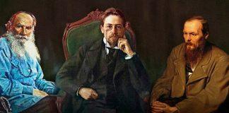 Tolstoi, Chejóv y Dostoievski