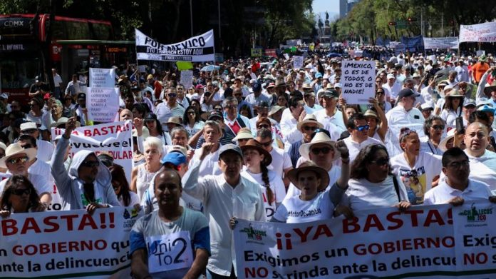 La marcha, ciudadanos y militantes