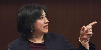 Irma Eréndira Sandoval, titular de Función Pública, da positivo a COVID-19