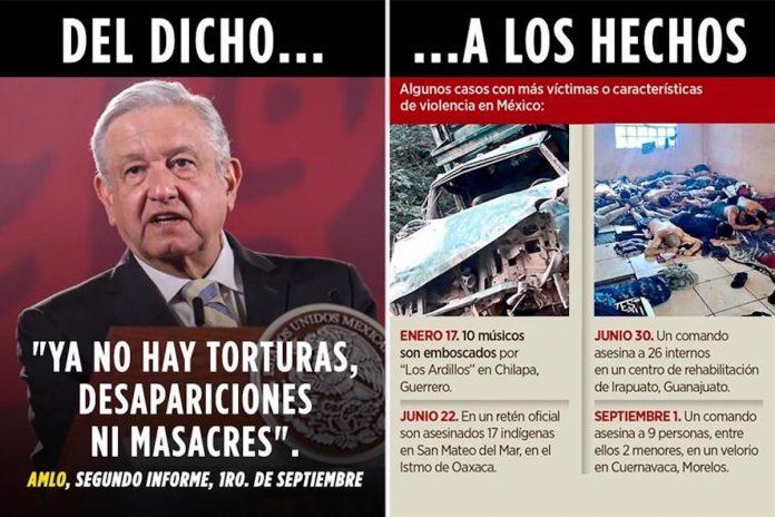 Suma México 45 masacres