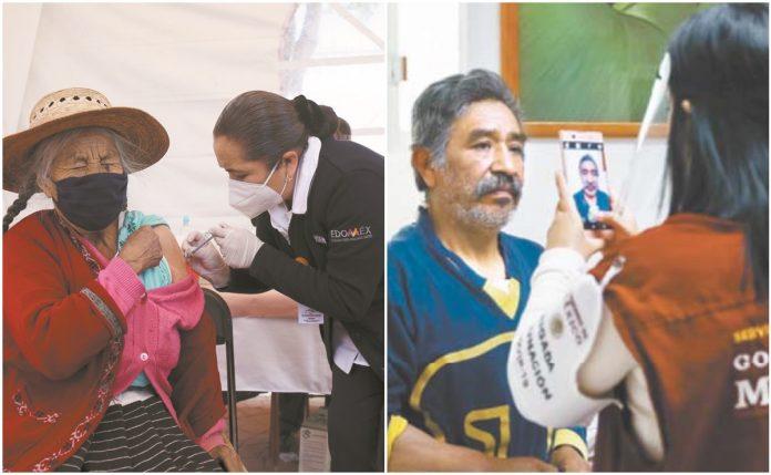 Les aplican la vacuna y les toman fotografías